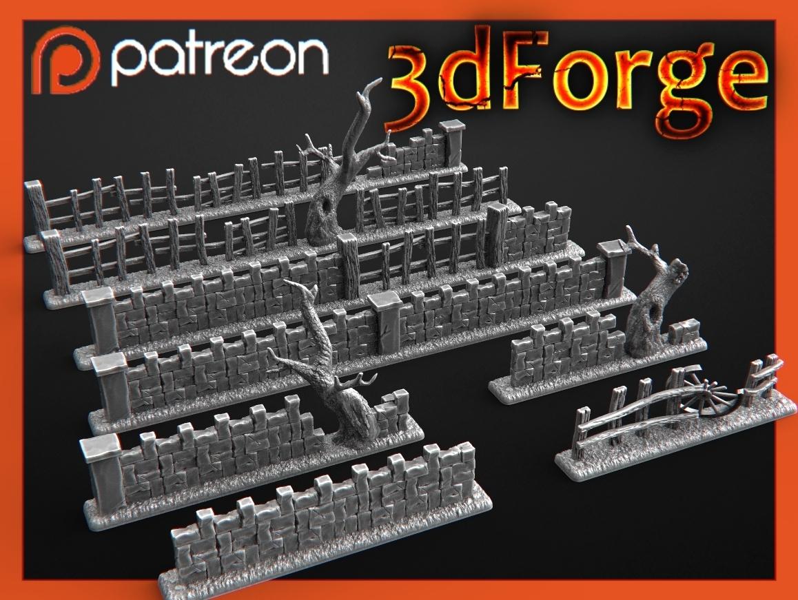 asdf.jpg Download free OBJ file Protective fence • 3D printer design, 3DRune