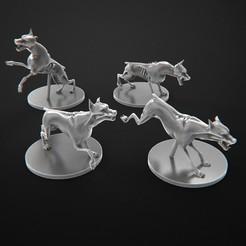 Download free STL file Dogs Zombie Zombicide, 3DForge