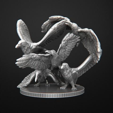 Download free OBJ file Crows Zombicide • 3D printer object, 3DRune