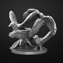 Cuervos.jpg Download free OBJ file Crows Zombicide • 3D printer object, 3DRune