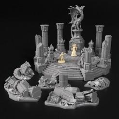 2020 02 v2.jpg Télécharger fichier OBJ Des ruines usées par le temps • Plan à imprimer en 3D, 3DRune