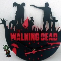P_20200306_1500412.jpg Télécharger fichier STL Clock Walking Dead • Design à imprimer en 3D, hattori_franck