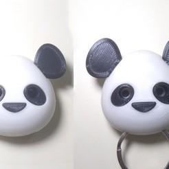 1.jpg Download STL file Panda magnetic Key Holder • 3D printable model, MAyobe