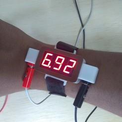 Télécharger fichier imprimante 3D gratuit Couverture de l'écran du voltmètre, MAyobe