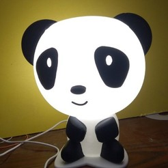 Download 3D printing files Panda light lamp, MAyobe