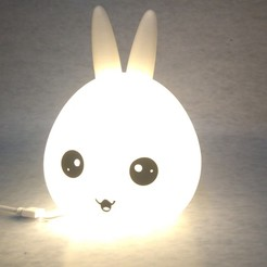 Download 3D print files Night light Bunny head, MAyobe