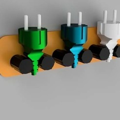 Download free 3D printer templates  Power Plug Holder, MAyobe