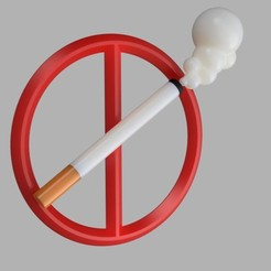 Download free 3D printer files No smoking sign, MAyobe