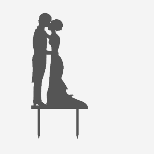 Toppers Couple 5.png Download STL file Wedding Cake toppers • 3D printable model, MAyobe