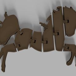 Impresiones 3D gratis Llavero Flexi Unicorn, MAyobe