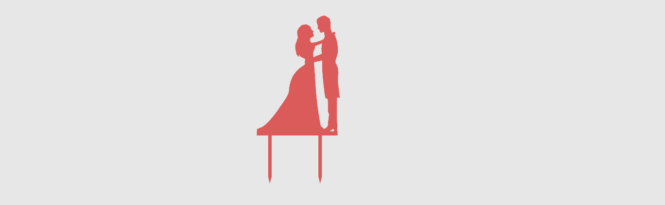 Toppers Couple1.png Download STL file Wedding Cake toppers • 3D printable model, MAyobe