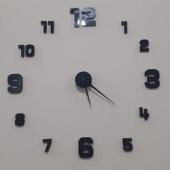 10-2.jpg Descargar archivo STL Reloj de pared grande • Modelo imprimible en 3D, MAyobe