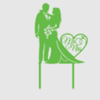 Toppers Couple 2.png Download STL file Wedding Cake toppers • 3D printable model, MAyobe