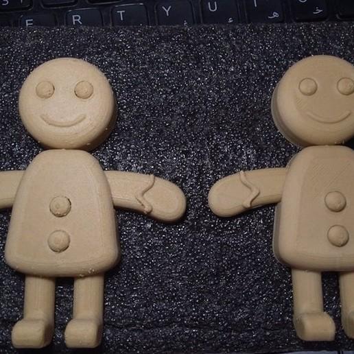 Download free STL file Gingerbread Man • 3D print template, MAyobe