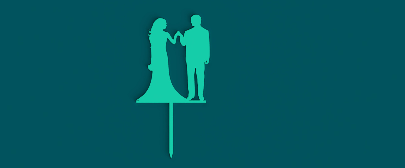 Toppers_Couple_2_2019-Aug-30_10-14-14PM-000_CustomizedView2020912624_jpg.jpg Download STL file Wedding Cake toppers 2 • 3D print design, MAyobe