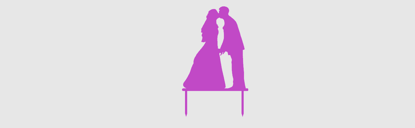 Toppers Couple 3.png Download STL file Wedding Cake toppers • 3D printable model, MAyobe