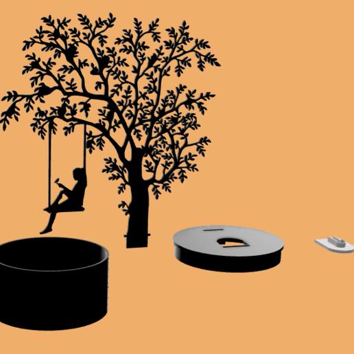 Tree light shadow v31.png Download STL file Shadow Lamp • 3D print model, MAyobe