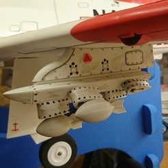 3D print files Freewing T-45 Goshawk pylon with bombs, RuckyPlex
