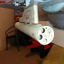 Download 3D printer files  Freewing Yak 130 90mm B-13L Rocket Launcher, RuckyPlex