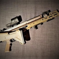 Download 3D printer designs The UGG boot Killer - ICS ACR Stock Adapter for SCAR L / H, porch200