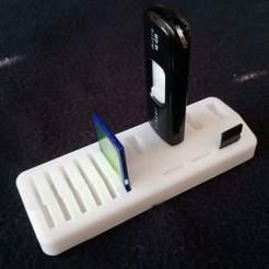 Download free 3D print files USB-SD-MicroSD Holder, CDPeter