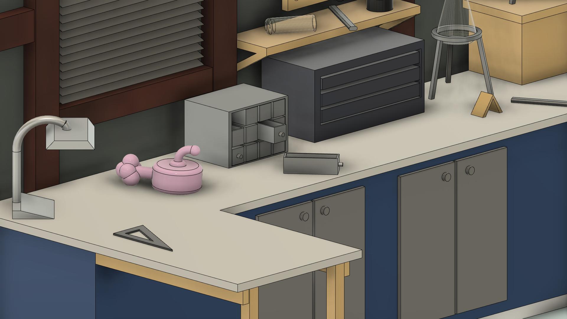 RickAndMortyGarage2.png Download free STL file Rick and Morty Garage • 3D printable object, lucadilorenzo98