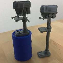 "drillPress1.jpg Download free STL file Drill Presses (3.75"" scale) • 3D print model, zanzas_toys"