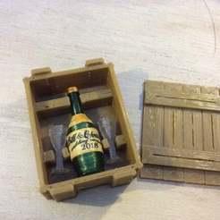 IMG_0096.JPG Télécharger fichier STL gratuit Caisse pour bouteille de champagne et verres (échelle 1:18) • Objet imprimable en 3D, zanzas_toys