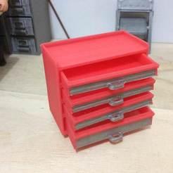 IMG_0125.jpg Télécharger fichier STL gratuit Boîte à outils roulante (échelle 1:18) • Design imprimable en 3D, zanzas_toys