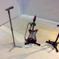 32474104_176267259639993_707982185734340608_n.jpg Télécharger fichier STL gratuit Stand de guitare (échelle 1:18) • Modèle imprimable en 3D, zanzas_toys