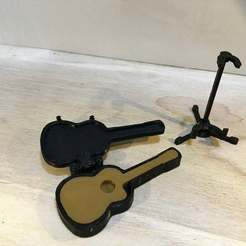 IMG_0396.jpg Télécharger fichier STL gratuit Guitare acoustique et étui (échelle 1:18) • Plan pour imprimante 3D, zanzas_toys