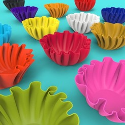 Download free 3D printing templates Bowl/Floral Salad Bowl, mayamaya08