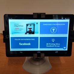 Impresiones 3D gratis Halter universal de tabletas (V2), 3ddrucktom