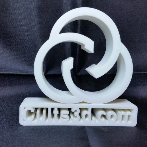 Download free 3D printing files cults logo, 3ddrucktom