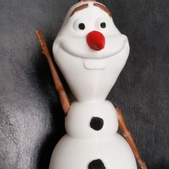 Download free 3D printing templates Frozen Olaf, 3ddrucktom