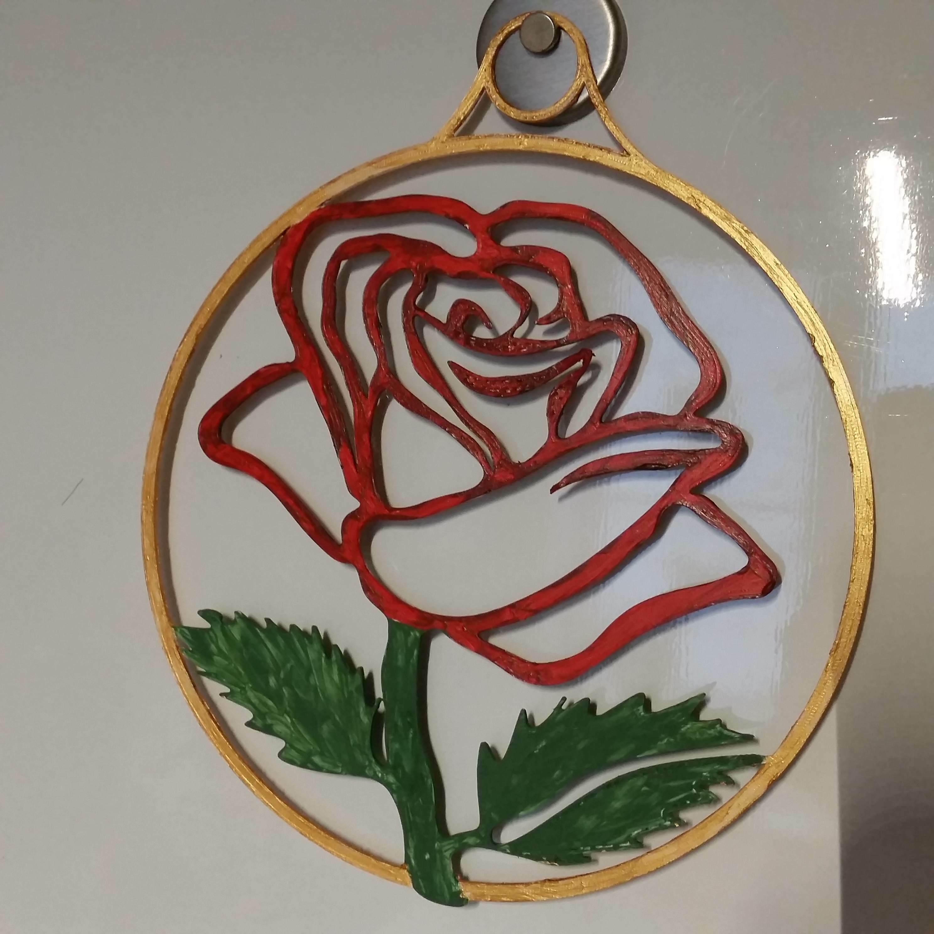 Télécharger fichier STL gratuit décoration des fenêtres Fensterdeko Rose 🌹 Valentinstag ❤ • Plan pour imprimante 3D, 3ddrucktom