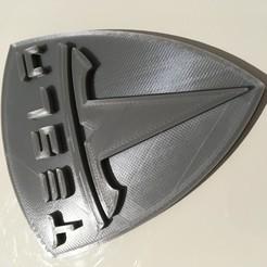 Imprimir en 3D gratis El logo de Tesla, adico