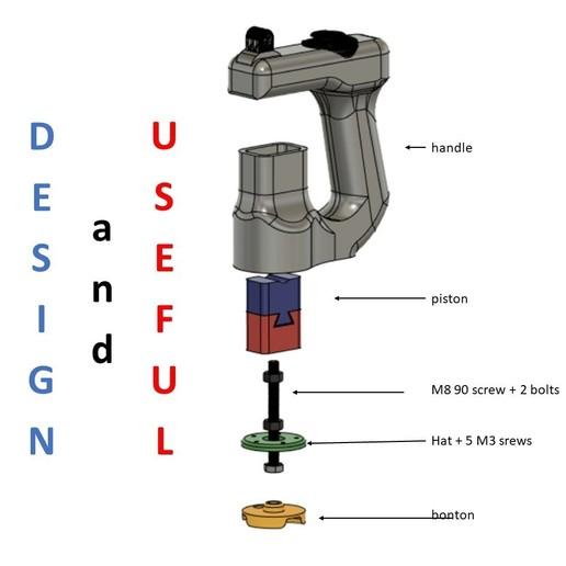 Diapositive4.JPG Descargar archivo STL Mango ergonómico multi-herramienta GoPro Action Cam • Plan de la impresora 3D, McGyver_Ch218