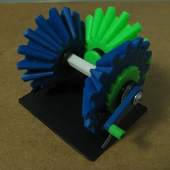 IMG_1244.JPG Download free STL file Mechanism that only turns one way, no matter what!!! Bevel Gear • 3D printer model, matthewdwulff