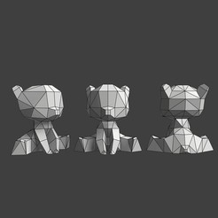 3D printer files Small Totem Bear, blendermika