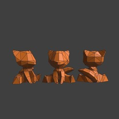3D printer models Small Totem Fox, blendermika
