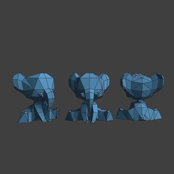 3D printing model Small elephant Totem, blendermika