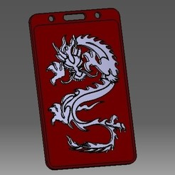 Télécharger STL Porte-badge ou porte-carte de crédit Dragon-3D, cristianalin007
