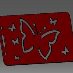 Descargar modelos 3D para imprimir Tarjeta de identificación de mariposa-2D o titular de una tarjeta de crédito, cristianalin007