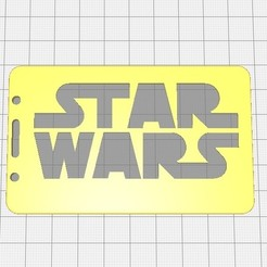 Download free 3D printer designs Star-wars-2D badge ID or credit card holder, cristianalin007