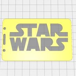 Télécharger fichier impression 3D gratuit Badge Star-wars-2D ou porte-carte de crédit, cristianalin007