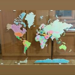IMG_20191217_204407_646.jpg Télécharger fichier STL carte du monde, pays du monde, décoration murale. • Objet à imprimer en 3D, cristianalin007