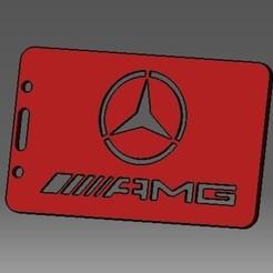 Descargar modelo 3D Identificación de tarjeta de Mercedes-2D o titular de tarjeta de crédito, cristianalin007