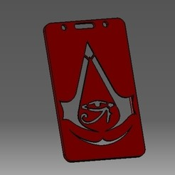 Télécharger fichier STL Assassins-creed-2D badge d'identification ou porte-carte de crédit, cristianalin007