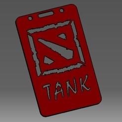Descargar archivos STL Dota tanque-2D tarjeta de identificación o titular de la tarjeta de crédito, cristianalin007